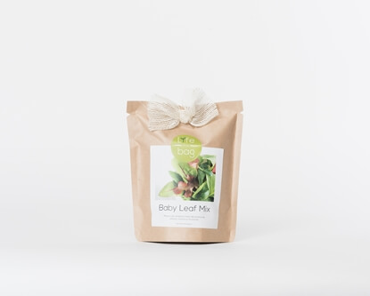 Grow your own baby leaves in this bag