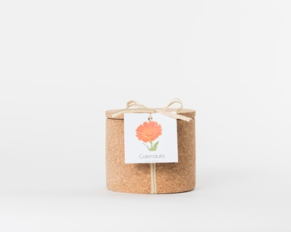 Grow your calendula in this cork pot