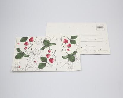 Foto de Postal con ilustración Fresas