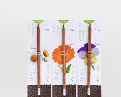 Foto de Conjunto 3 Grow Pencil Flores