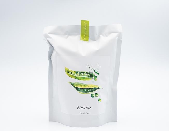 Grow bag para semear ervilhas