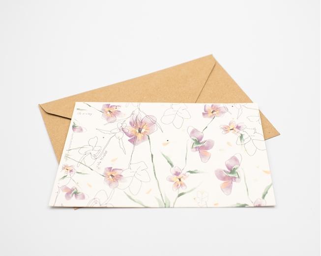 Postal para plantar - amor-perfeito