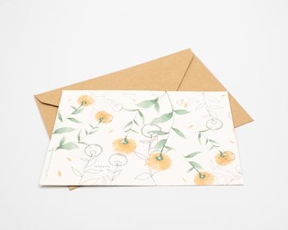 Postal para plantar - calendula