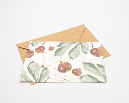 Postal para plantar - castanhas