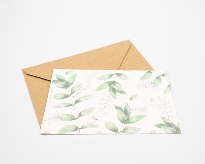 Postal para plantar - hortelã