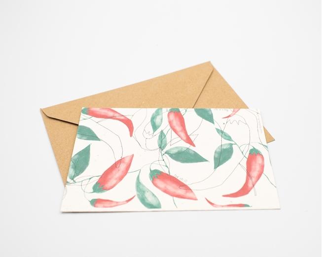 Postal para plantar - malaguetas