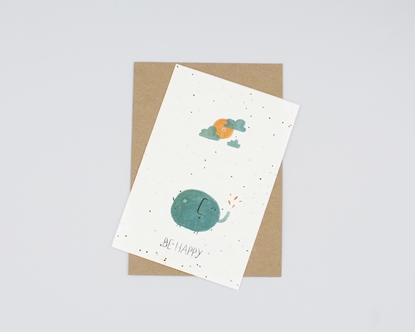 Postal para plantar - be happy