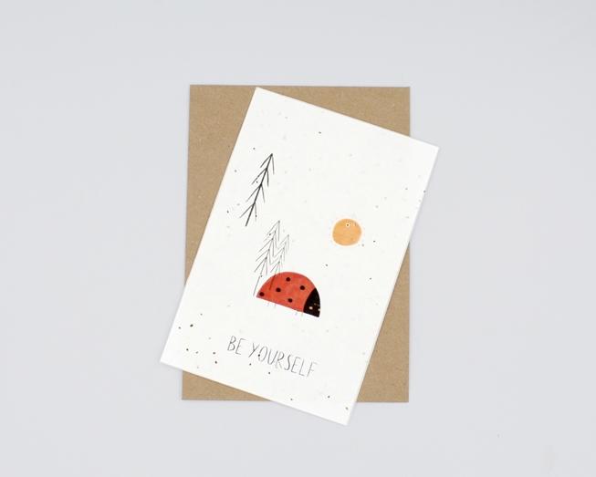 Postal para plantar - be yourself