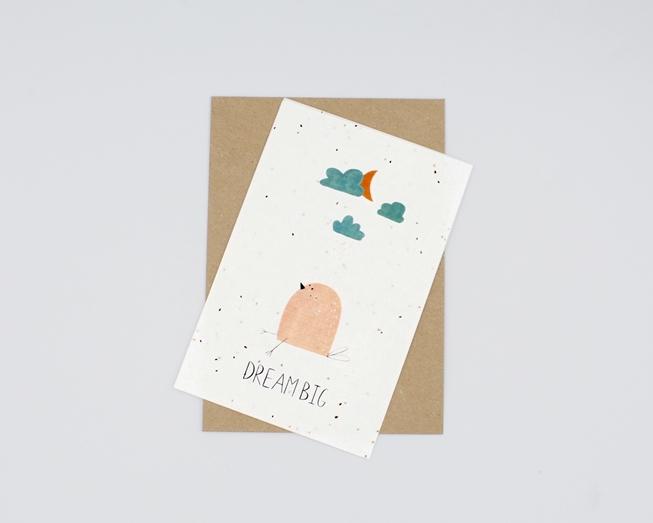 Postal para plantar - dream big