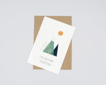 Postal para plantar - follow your intuition