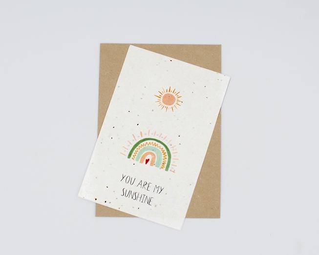 Plantable postcard - You Are My Sunshine