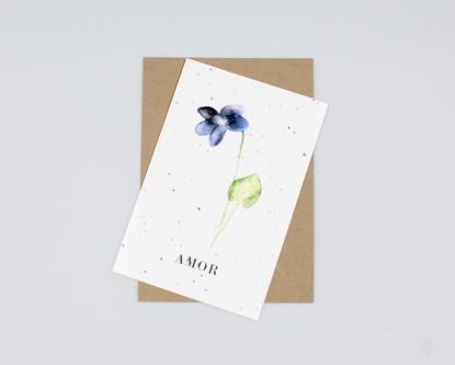 Postal com sementes - amor